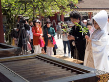 Traditional Japanese wedding ceremony Royalty Free Stock Photo