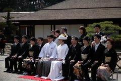 Traditional Japanese wedding photo Royalty Free Stock Photo