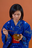 Traditional japanese woman Stock Photography