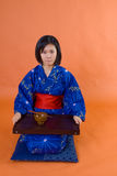 Traditional japanese woman Royalty Free Stock Photo