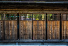 Traditional Japanese wooden door Royalty Free Stock Images