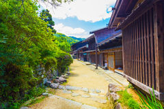 Traditional Japanese Wooden Rural Houses Tsumago H Royalty Free Stock Photos