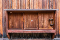 Traditional Japanese wooden window Royalty Free Stock Photo