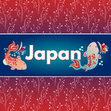 Traditional japanise illustration Stock Images