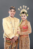 Traditional java wedding couple Stock Photography