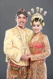 Traditional java wedding couple Royalty Free Stock Photos