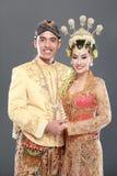 Traditional java wedding couple Royalty Free Stock Photos
