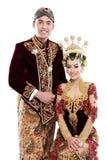 Traditional java wedding couple Stock Image