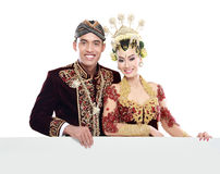 Traditional java wedding couple Royalty Free Stock Photo