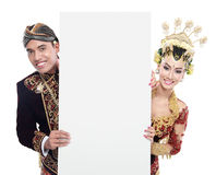 Traditional java wedding couple Royalty Free Stock Image