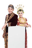 Traditional java wedding couple Royalty Free Stock Images