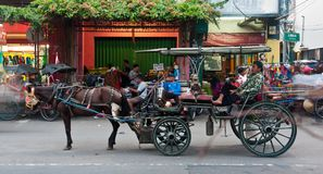 Traditional javanese carriage Stock Images