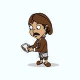 Traditional Javanese man Cartoon Royalty Free Stock Image