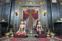 Traditional Javanese temple room, Java Royalty Free Stock Images