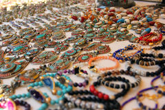 Traditional jewelry of Istanbul, Turkey royalty free stock image