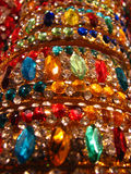 Traditional Jewels. Traditional Indian ornaments studded with colorful jewels Royalty Free Stock Photo