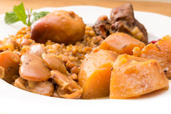 Traditional Jewish Cholent (Hamin) from Israel served with horse Stock Image