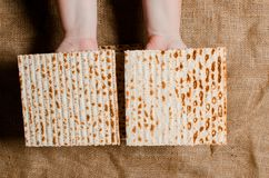 Traditional Jewish holiday Pesach. Traditional Jewish festive food Matza. Spring holiday pesah. royalty free stock photo