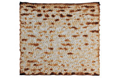 Traditional Jewish Matzo Sheets, Isolated. Traditional Jewish Matzo sheet on a Passover Seder table. Passover  is a predominantly Jewish holy day and festival Stock Photography