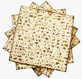 Traditional Jewish Matzoth sheet for the Passover Seder. Royalty Free Stock Photos