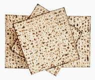 Traditional Jewish Matzoth sheet for the Passover Seder. Royalty Free Stock Images