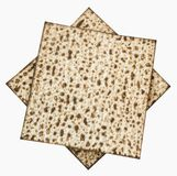 Traditional Jewish Matzoth sheet for the Passover Seder. Royalty Free Stock Photo