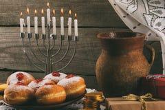 Traditional hanukkah celebration Royalty Free Stock Photo