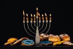 Traditional jewish menorah royalty free stock images