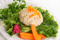 Traditional Jewish passover food gefilte fish Royalty Free Stock Photo
