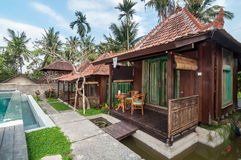 Traditional Joglo Private villa with pool outdoor Stock Photography
