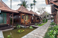 Traditional Joglo Private villa with pool outdoor Stock Photo