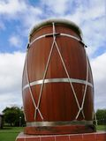 Traditional Ka drum from the West Indies from Guadeloupe. In the French West Indies. Duval site royalty free stock image