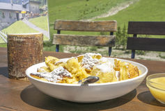 Traditional Kaiserschmarrn mountain inn Royalty Free Stock Photos