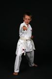 Traditional Karate Boy Royalty Free Stock Photo
