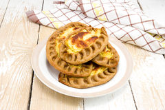Traditional Karelian pies with potatoes Royalty Free Stock Images