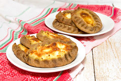 Traditional Karelian pies with potatoes and porridge. Wickets - Royalty Free Stock Image