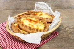 Traditional Karelian pies with potatoes. Wickets - Kalittoa Royalty Free Stock Photos