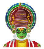 Traditional Kathkali Dancer from South India Stock Photography