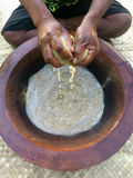 Traditional Kava drink the national drink of Fiji Royalty Free Stock Photos