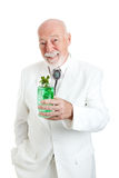 Traditional Kentucky Colonel with Julep. Traditional Kentucky Colonel enjoying a mint julep coctail for Derby Day.  Kentucky Colonel is an honorary designation Stock Image