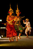 Traditional Khmer dance depicting ramayana Royalty Free Stock Image