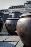 Traditional Kimchi Jar Storage in royal palace, Seoul Stock Image