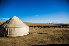 A traditional  Kirgiz yurt- Song Kol area Stock Photos