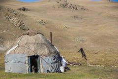 A traditional  Kirgiz yurt- Song Kol area Stock Images