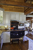 Traditional Kitchen with Cast iron Aga cooker Stock Photos