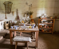 Traditional kitchen in mission in California Royalty Free Stock Photo
