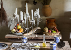 Traditional kitchen in mission in California Stock Photography