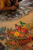 Traditional kite maker man Stock Photography