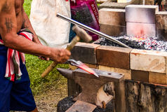 Traditional knife making Stock Images