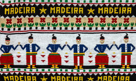 Traditional knitted ornament of Madeira, Portugal.  Royalty Free Stock Image